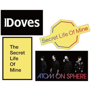「THE SECRET LIVE OF MINE」ツアーステッカー(4枚セット)