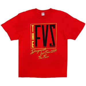 """2019 """"THE FIVES"""" TOUR Tシャツ(レッド)"""