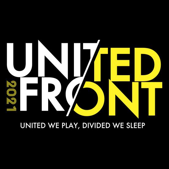 UNITED FRONT 2021  Tシャツ(ブラック)